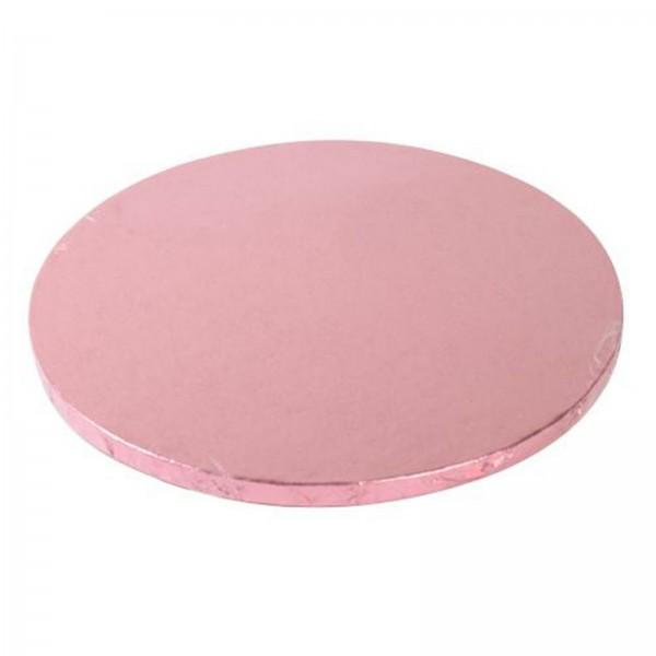 Cake Board rund, rosa, 25cm