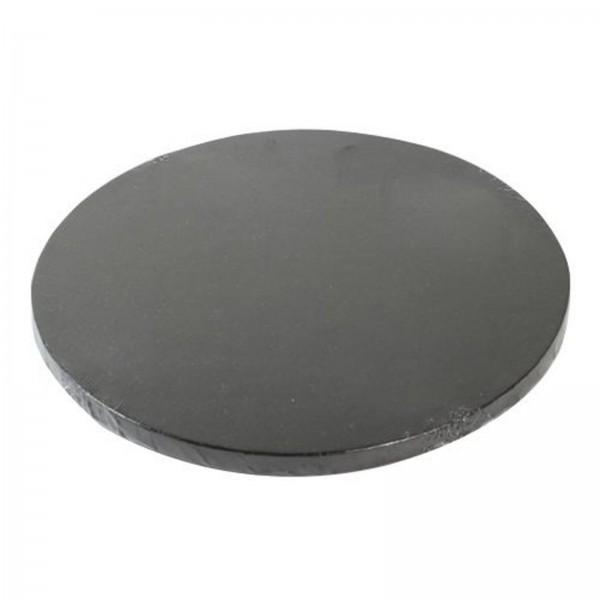 Cake Board rund, schwarz, 25cm
