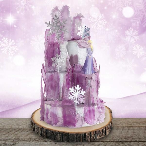 Tortenset Eispalast Lila mit der Eiskönigin Elsa