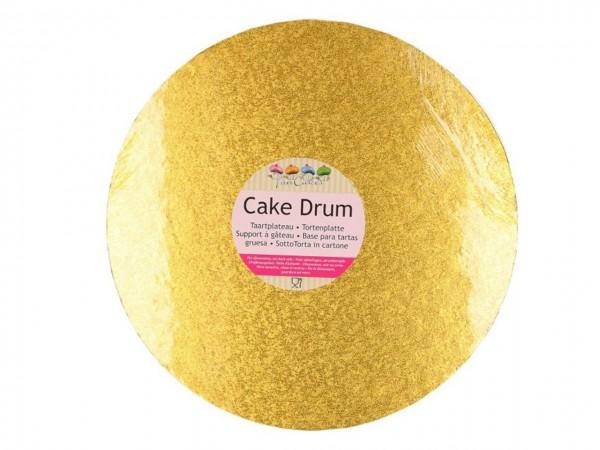 Cake Board rund, gold, 25cm