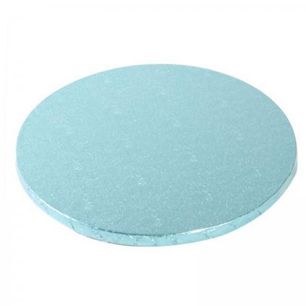 Cake Board rund, babyblau, 25cm