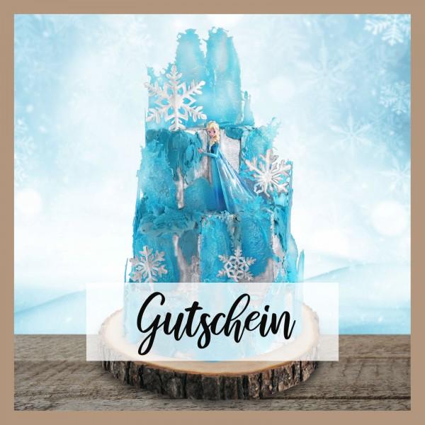 Tortenset Eispalast Blau mit der Eiskönigin Elsa-Gutschein