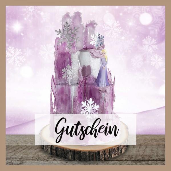 Tortenset Eispalast Lila mit der Eiskönigin Elsa-Gutschein