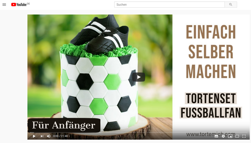 Fussballtorte-Video