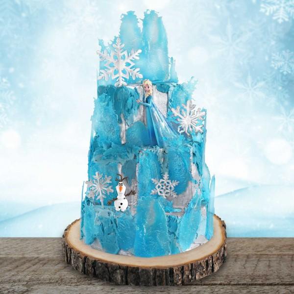Tortenset Eispalast Blau mit der Eiskönigin Elsa