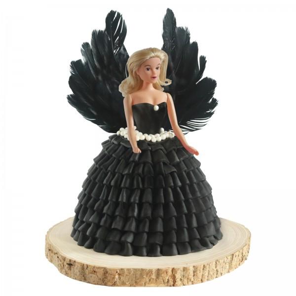 Tortenset Engel schwarz